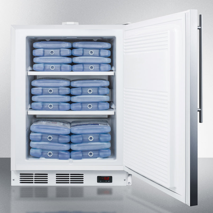 "24"" Wide Built-In All-Freezer, ADA Compliant"