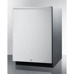 Summit Stainless 24-Inch Wine Fridge with Lock -- Top Handle