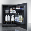 Image of Summit Stainless 24-Inch Wine Fridge with Lock -- Top Handle
