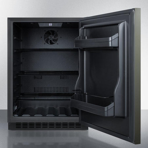 Summit Unique Black 24-Inch Undercounter Refrigerator