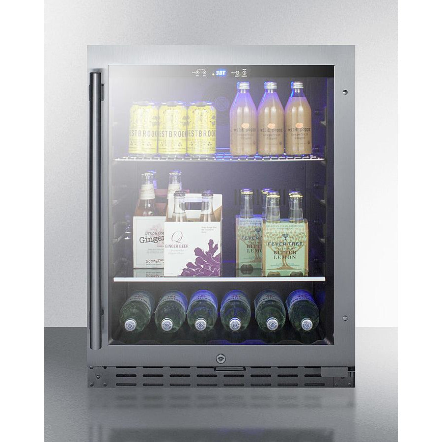 "24"" Wide Built-In Beverage Cooler, ADA Compliant"