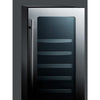 Image of Summit Black 15-Inch Beverage and Wine Cooler Combo