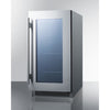 Image of Summit Stainless 18-Inch Beverage and Wine Cooler Combo