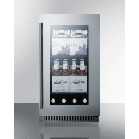 Summit Black 18-Inch Beverage and Wine Cooler Combo