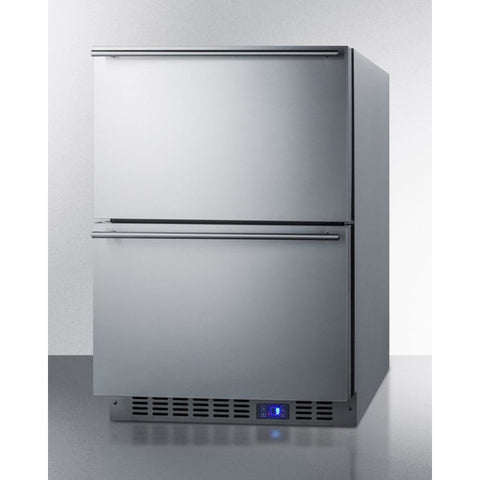 Summit 24-Inch 2-Drawer Undercounter Refrigerator