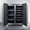Image of Summit Two-Door 24-Inch Beverage and Wine Cooler Combo