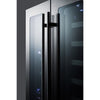Image of Summit Stainless French Door 24-Inch Wine Cellar