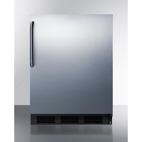 Summit 24-Inch Stainless Undercounter Refrigerator with Freezer