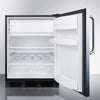 Image of Summit 24-Inch Stainless Undercounter Refrigerator with Freezer