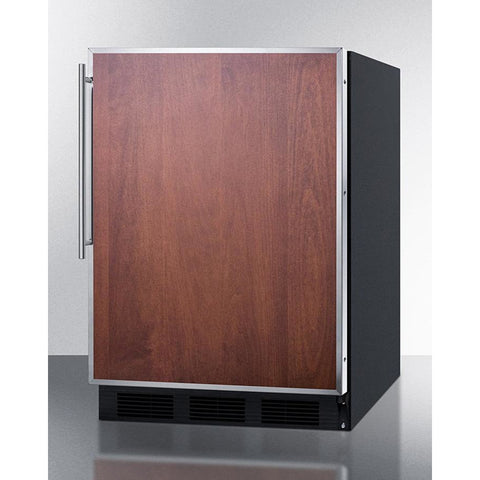 Summit 24-Inch Undercounter Refrigerator with Freezer -- Custom Door