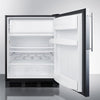 Image of Summit 24-Inch Undercounter Refrigerator with Freezer -- Custom Door