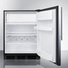 Image of Summit 24-Inch Stainless Undercounter Refrigerator with Freezer ADA