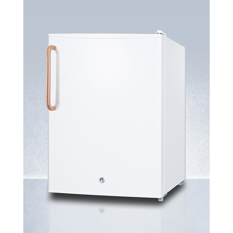 Compact All-Refrigerator with Antimicrobial Pure Copper Handle
