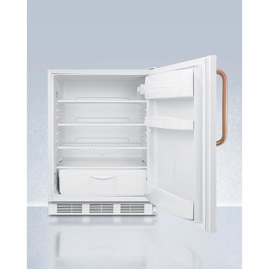 "24"" Wide Built-In All-Refrigerator with Antimicrobial Pure Copper Handle, ADA Compliant"