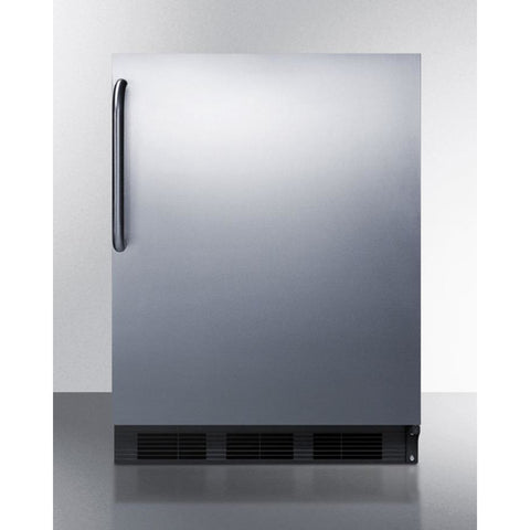 Summit Stainless 24-Inch Wine Fridge -- Side Handle