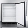 Image of Summit Black 24-Inch Undercounter Refrigerator