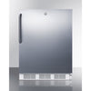 Image of Summit Stainless 24-Inch Wine Fridge with Lock -- Side Handle