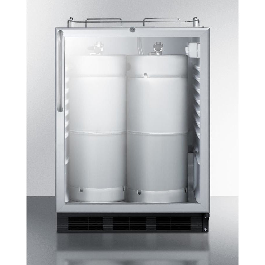 "Summit Appliance 24"" Wide Built-In Beer Dispenser SBC56GBINKCSSADA"