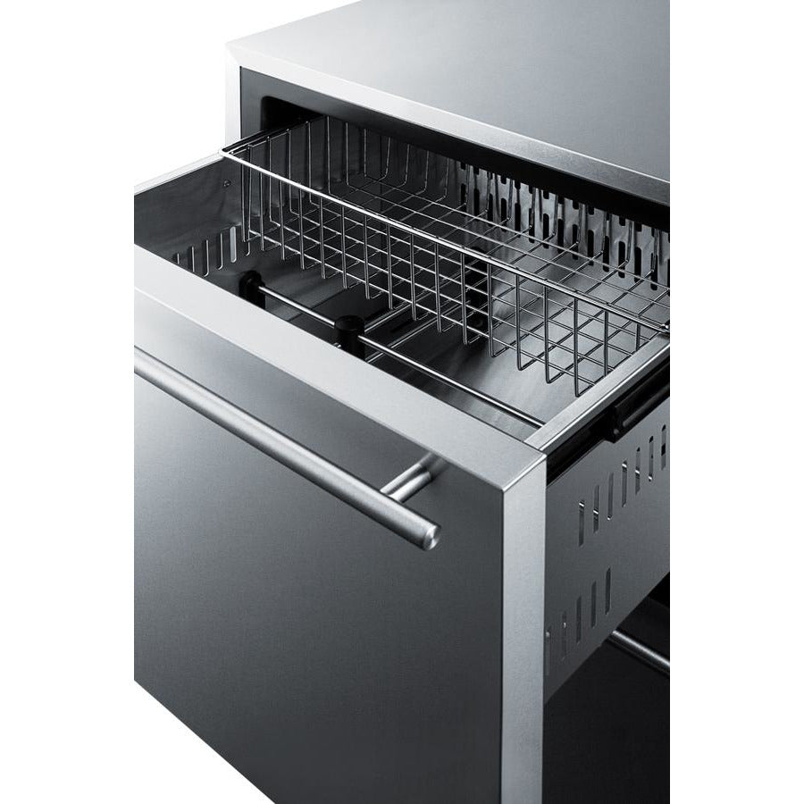 "24"" Outdoor 2-Drawer All-Freezer"