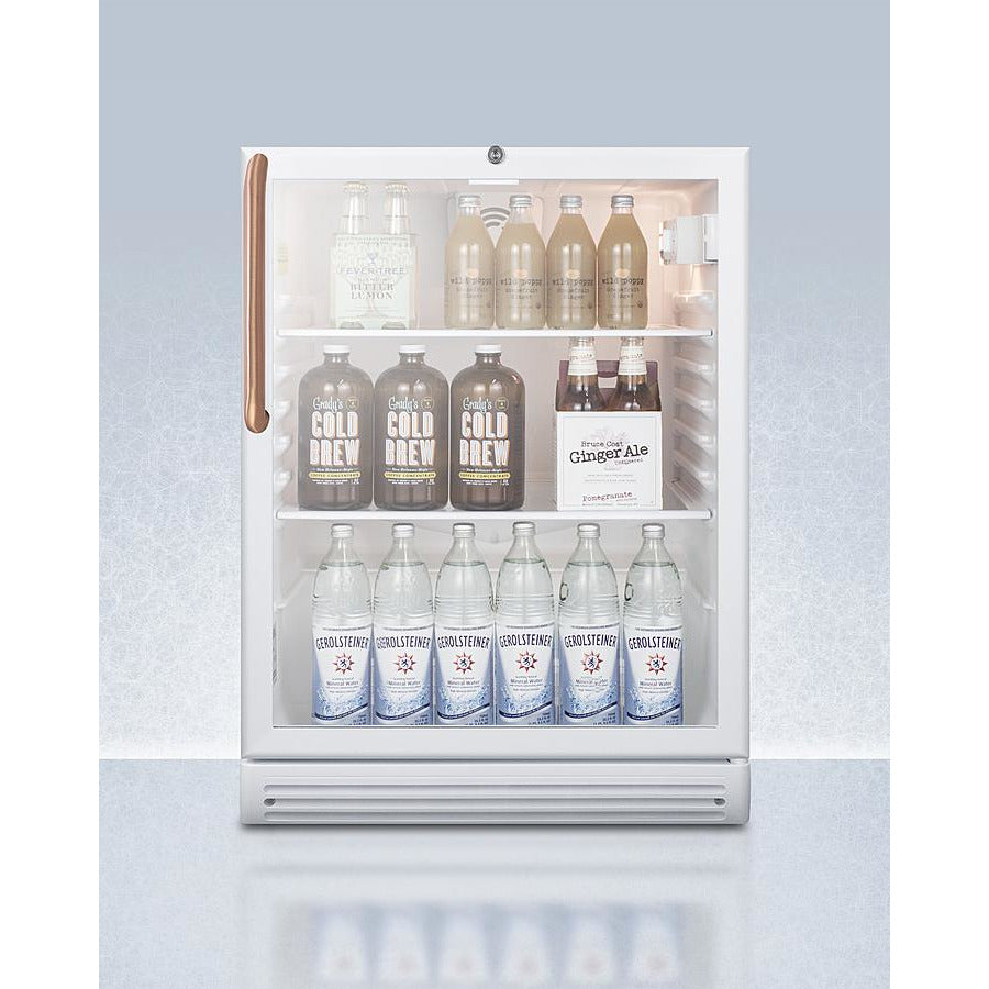 "24"" Wide Built-In Beverage Center with Antimicrobial Pure Copper Handle, ADA Compliant"