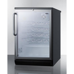 Summit Commercial Black 36-Bottle Single Zone Wine Cooler
