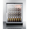 Image of Summit Commercial Black 36-Bottle Single Zone Wine Cooler