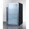 Image of Shallow Depth Indoor/Outdoor Beverage Cooler, ADA Compliant