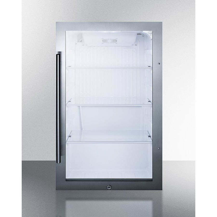 Shallow Depth Indoor/Outdoor Beverage Cooler, ADA Compliant