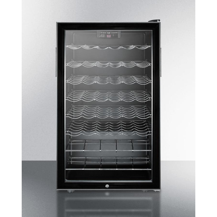 Summit Black Glass Door 20-Inch Wine Cellar-ADA