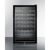 Image of Summit Black Glass Door 20-Inch Wine Cellar-ADA