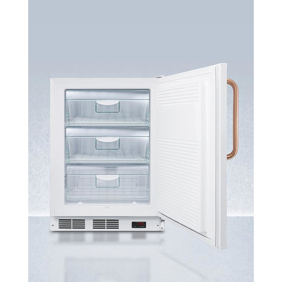 "24"" Wide Built-In All-Freezer with Antimicrobial Pure Copper Handle, ADA Compliant"