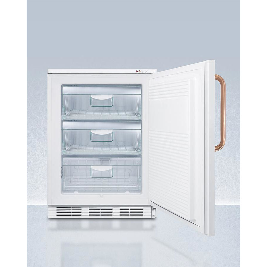 "24"" Wide All-Freezer with Antimicrobial Pure Copper Handle"