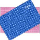 "12"" x 18"" Pink/Blue Double-Sided Self-Healing Cutting Mat"