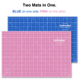 "Starter Kit: 12"" x 18"" Cutting Mat, Pink Non-Slip Ruler & Rotary Cutter"