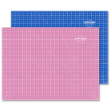 "18"" x 24"" Pink/Blue Double-Sided Self-Healing Cutting Mat"