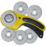 60mm Rotary Cutter & 5 Refill / Replacement Blades