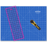 "Starter Kit: 18"" x 24"" Cutting Mat, Pink Non-Slip Ruler and Rotary Cutter"