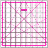 Set of 4 Pink Acrylic Non-Slip Square Rulers