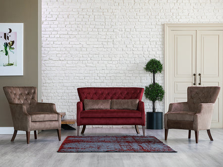 Demre Quilted Armchair - Ider Furniture