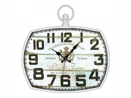 AK 831/White Wall Clock - Ider Furniture