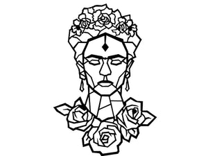 Frida Kahlo Metal Wall Art Decor - Ider Furniture