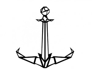 Anchor Metal Wall Art Decor - Ider Furniture
