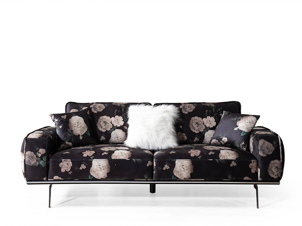 Hermes Patterned 3 Seater Sofa - Ider Furniture