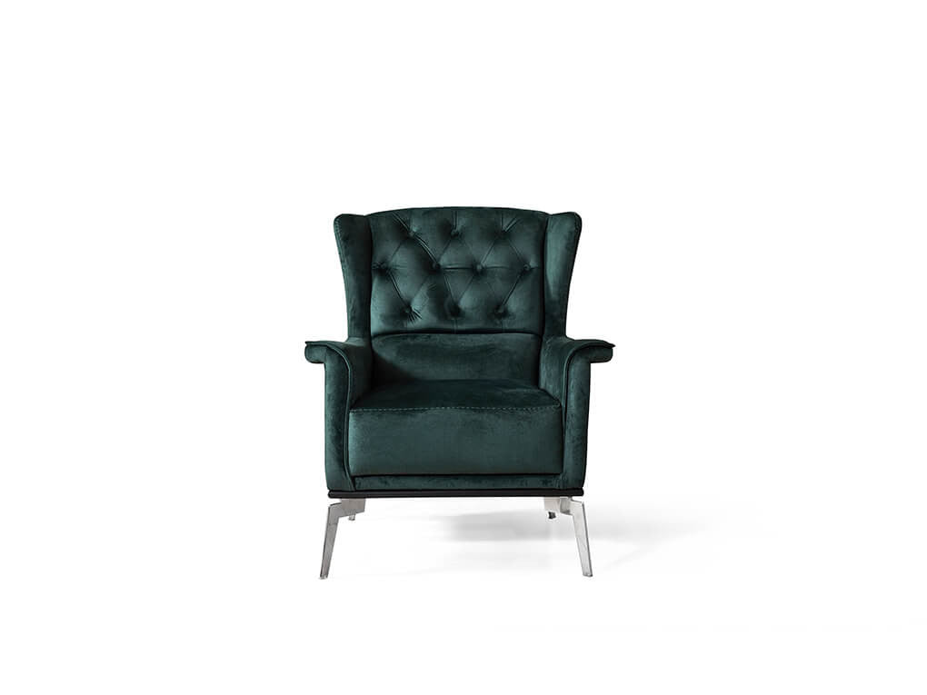 Hermes Armchair Green - Ider Furniture