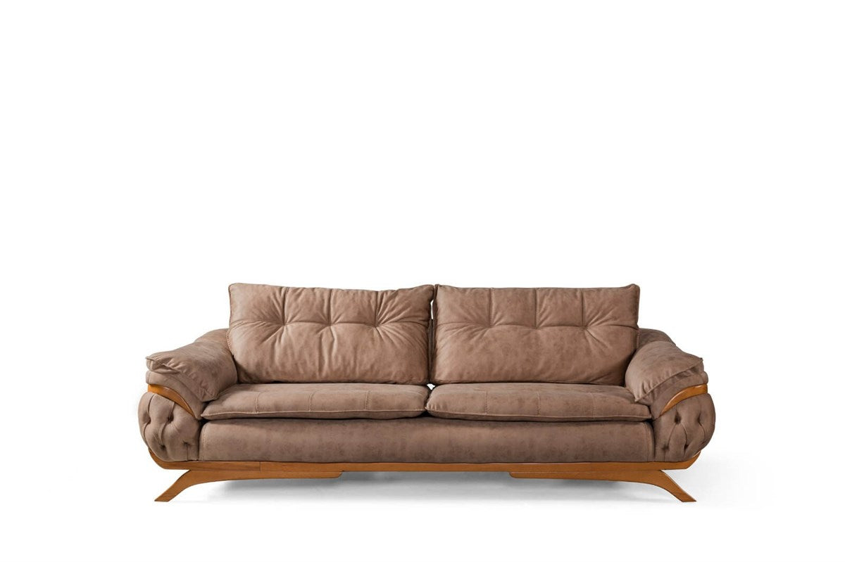 Bugatti 3 Seater Sofa Brown - Ider Furniture