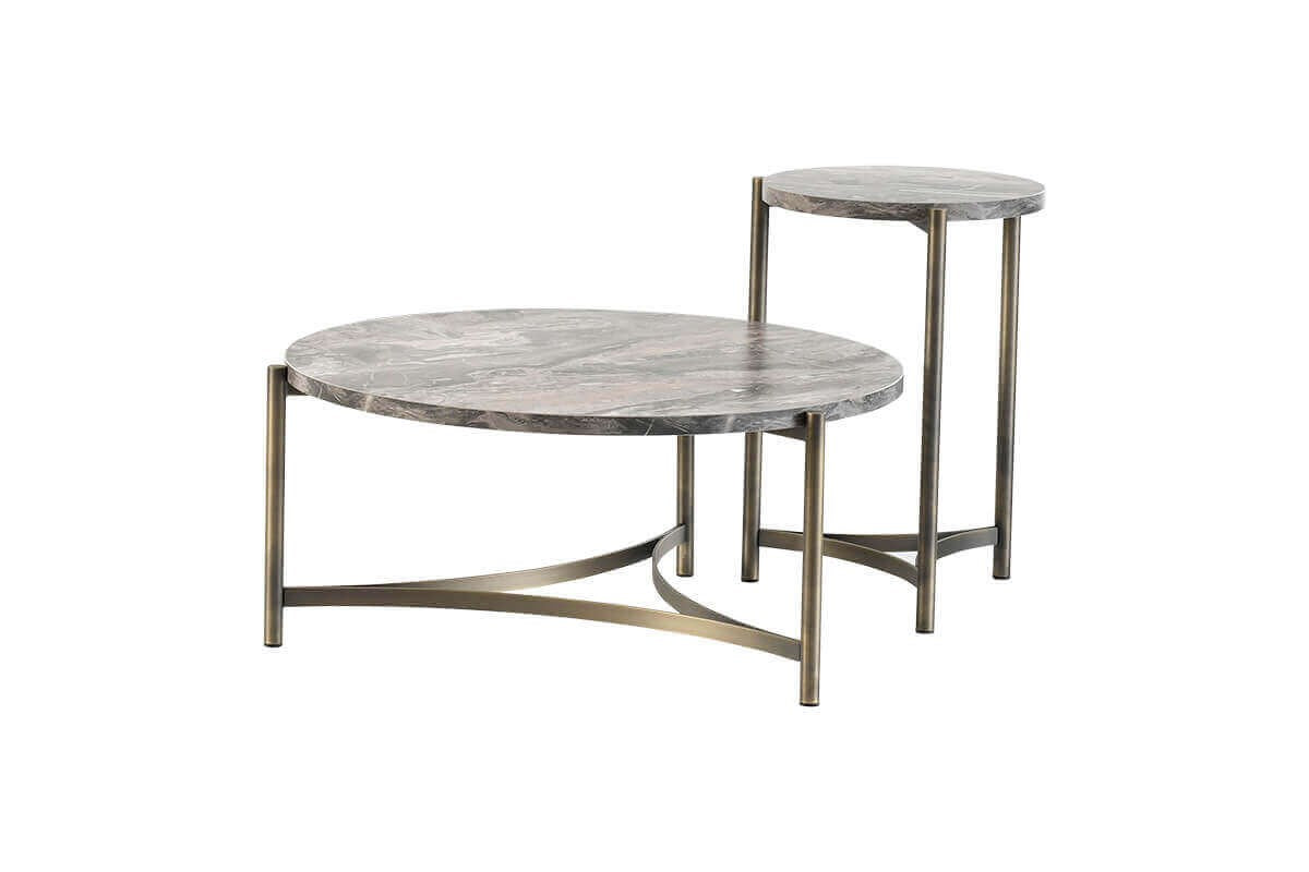 Hermes Coffee Table Set - Antique - Ider Furniture