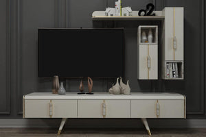 Megan Tv Unit Moonstone - Ider Furniture