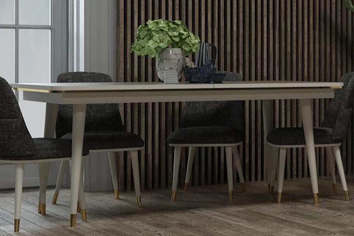 Megan Moonstone Dining Table - Ider Furniture