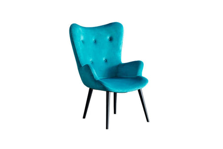 Roma Armchair + Puff Blue - Ider Furniture
