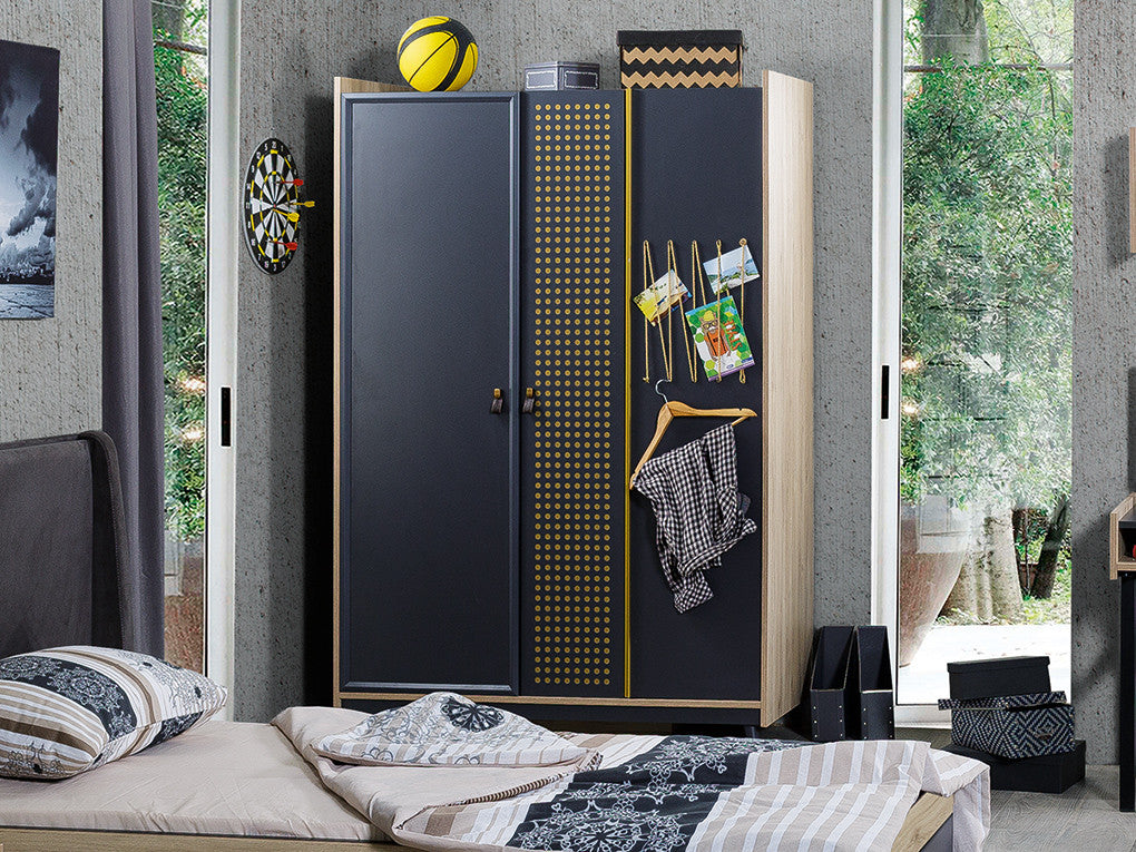 Santos Kids/Teens 3 Door Wardrobe - Ider Furniture
